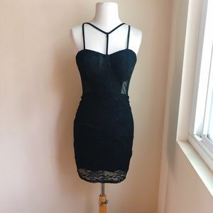 Bozzolo stretch lace and mesh Sexy bodycon Dress